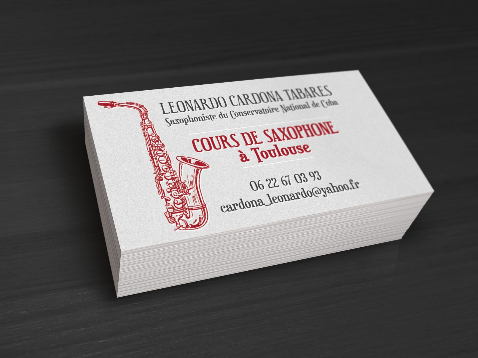 Carte De Visite Cours Saxophone