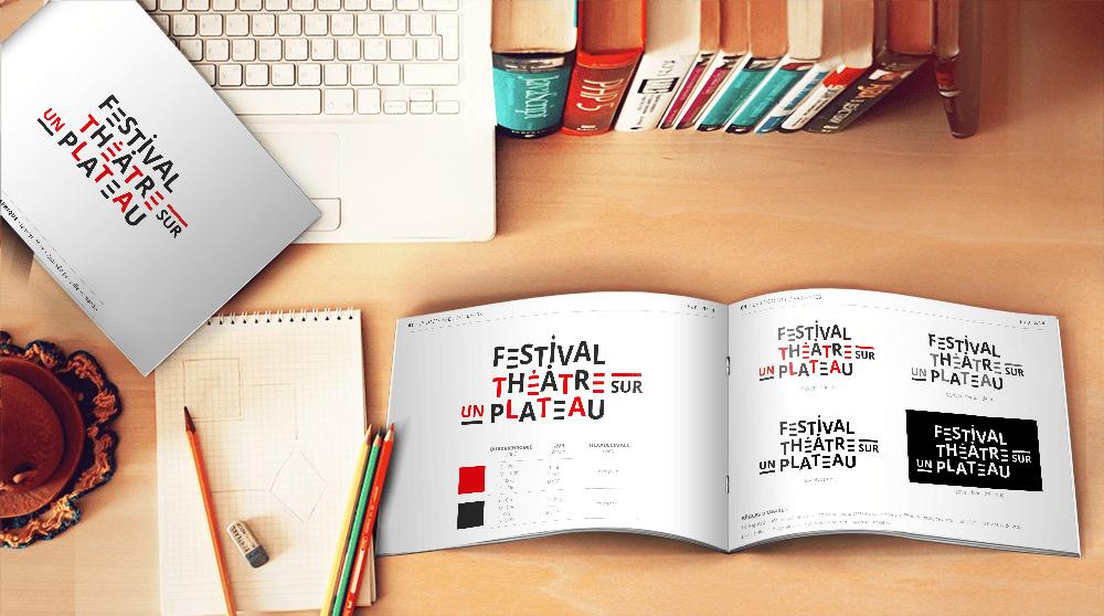 Charte graphique du Festival Théâtre sur un Plateau