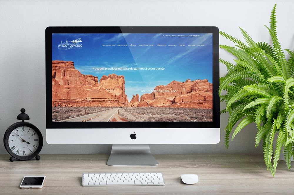 Site vitrine pour l'agence de voyages Un Bout du Monde
