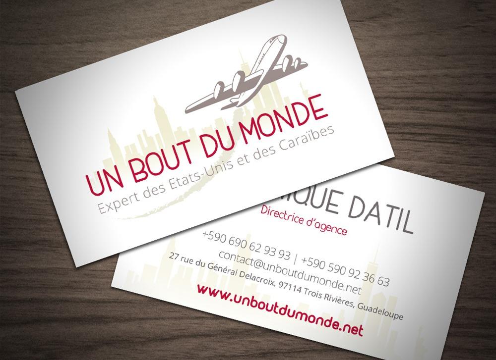 Carte De Visite Un Bout Du Monde Agence Voyages Haut Gamme