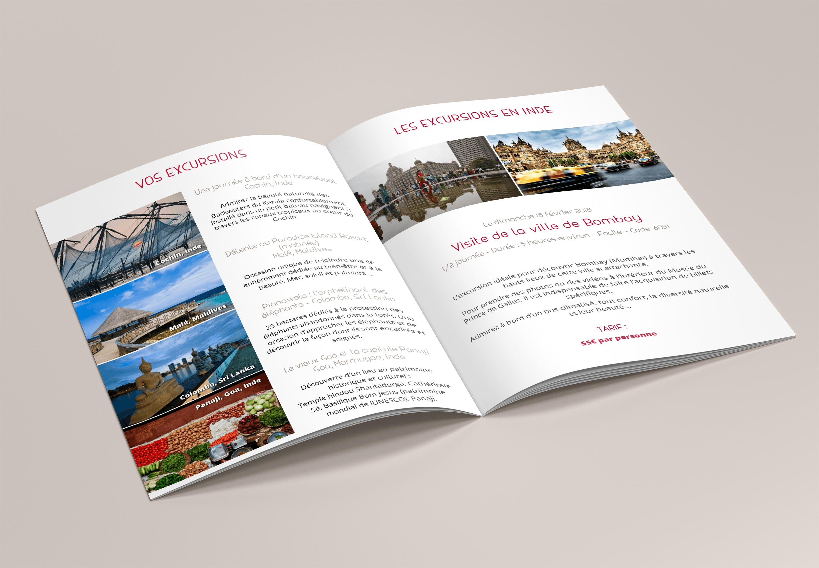 Pages intérieures carnet de voyage croisière Un Bout du Monde
