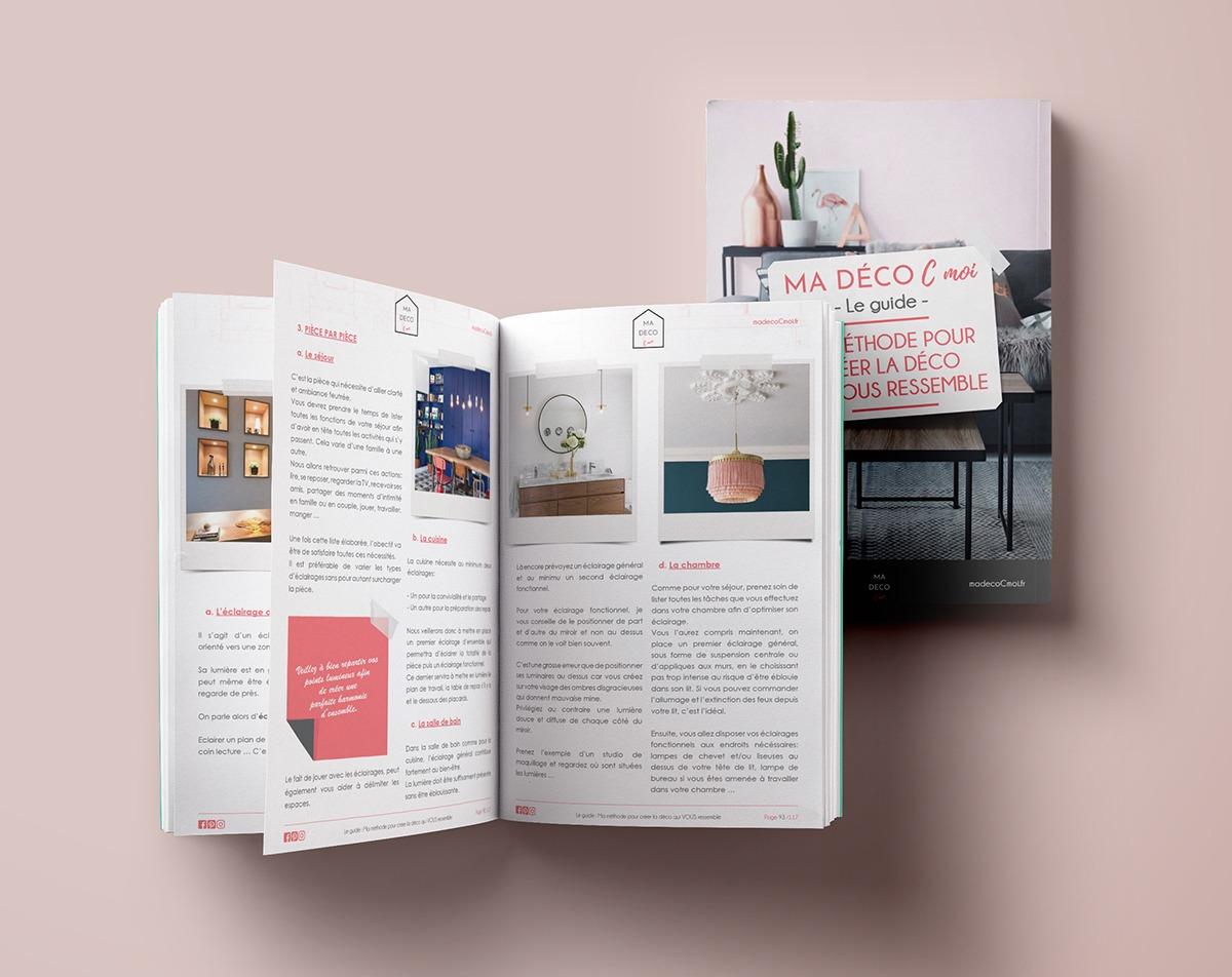 Mise en page de guide pdf (ebook) Ma Déco C moi